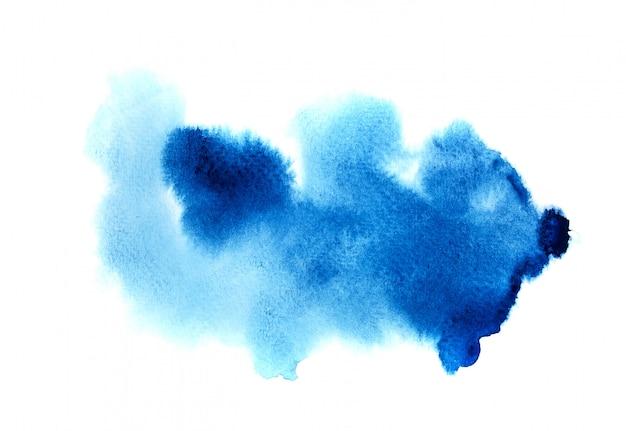 Синий акварельный фон. Premium Фотографии