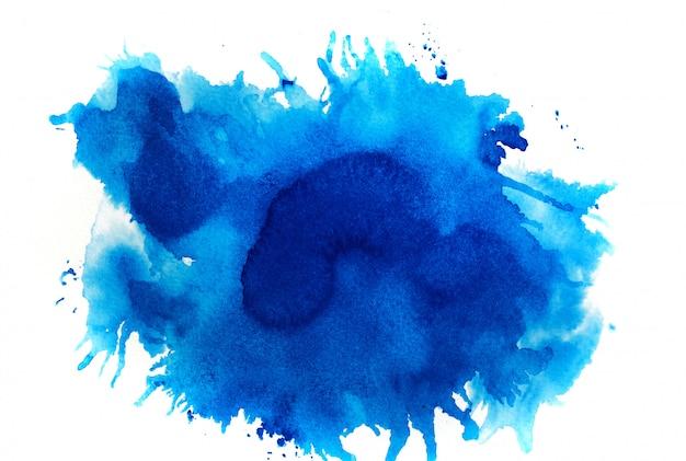 Синий акварельный фон Premium Фотографии