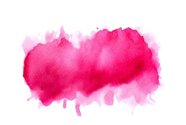 ピンクの水彩画の背景。アートハンドペイント Premium写真