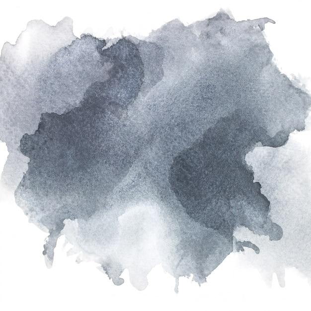 紙の上の灰色の水彩画。 Premium写真