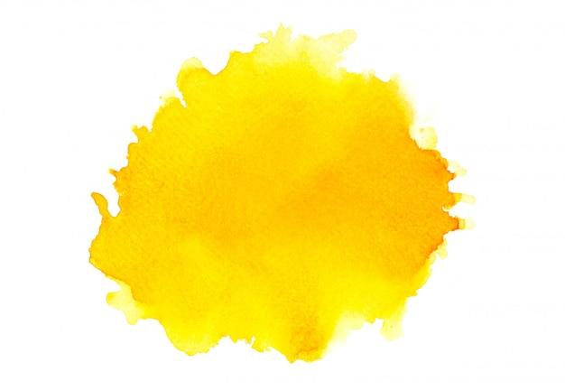 Оттенки желтой акварели. изображение Premium Фотографии