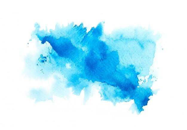 青い色の水彩画 Premium写真