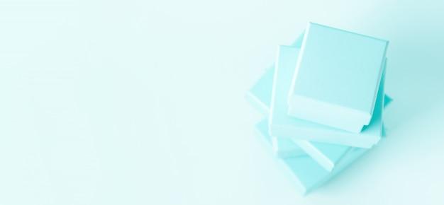 ボックスのスタックの平面図 Premium写真