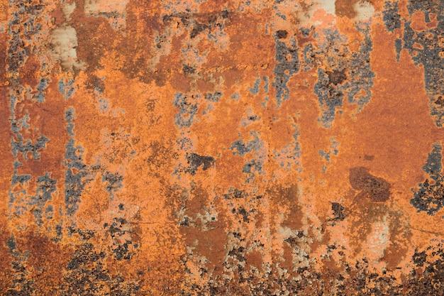 Ржавый металл текстурированный, старый металл железо ржавчина фон и текстура, металл корродированная текстура Premium Фотографии