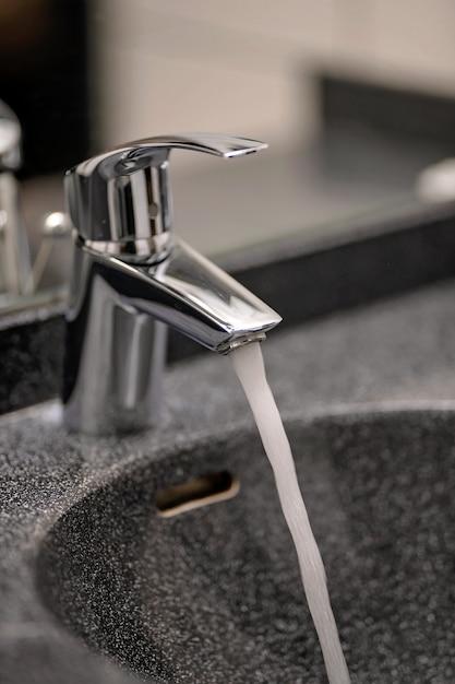浴室の水栓の健康保護 Premium写真