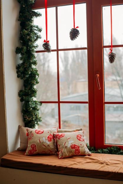 Новогоднее украшение дома Premium Фотографии