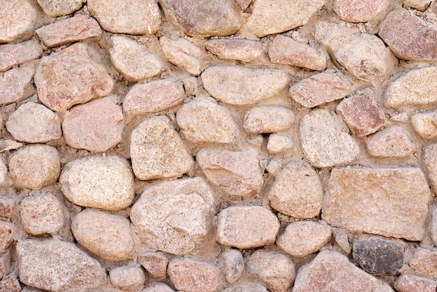 Кирпичная стена из камней, узор текстуры фона Premium Фотографии