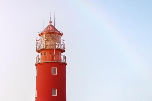 港の灯台。美しいロシアのバルチスクビーコン Premium写真