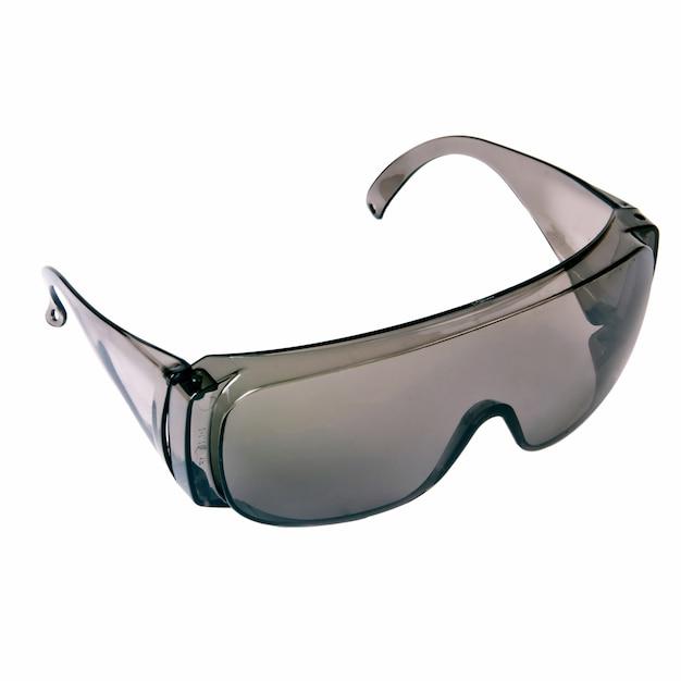 灰色の安全メガネ絶縁 Premium写真