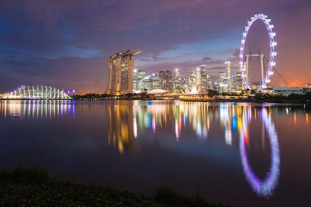 Горизонт города сингапур Premium Фотографии