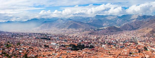 クスコ航空写真 Premium写真