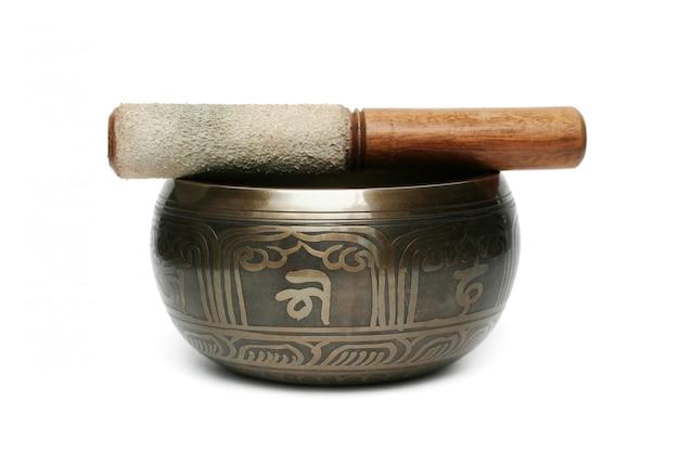 チベットの歌ボウル Premium写真