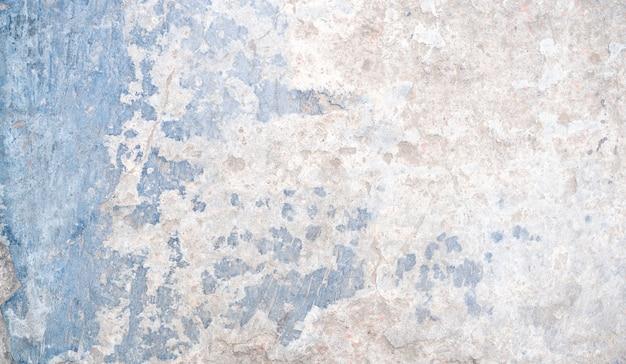 テキストまたはデザインのためのスペースと白と青のさびたコンクリートテクスチャ背景 Premium写真