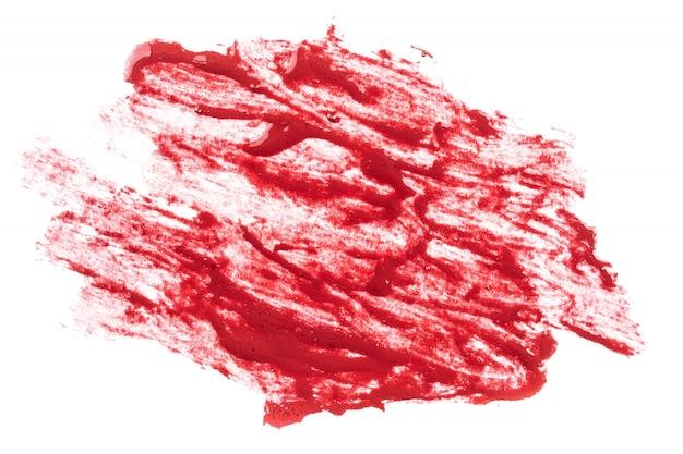 白地に赤い口紅 Premium写真