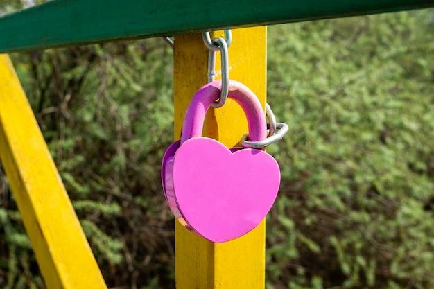 デザイン要素。愛のロック画像 Premium写真