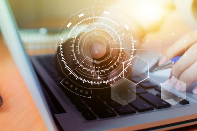 実業家ネットワーク技術とコミュニケーション Premium写真