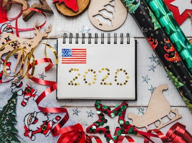 Веселого рождества и счастливого нового года. Premium Фотографии