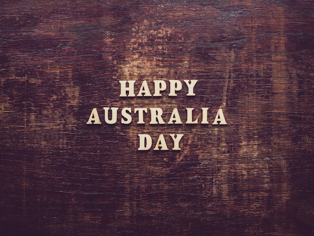 オーストラリアの日。美しい、明るいカード。上面図 Premium写真