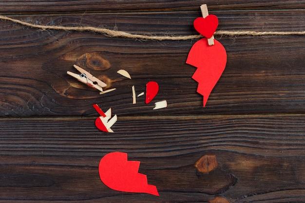 失恋の解散コレクションと離婚のアイコン。 Premium写真