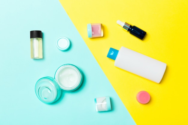 化粧品容器の平面図 Premium写真