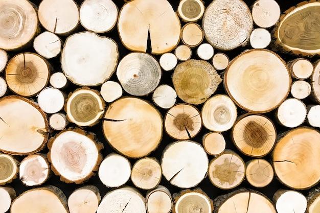 Круглый тикового дерева пень фон. деревья вырезать раздел для фоновой текстуры Premium Фотографии