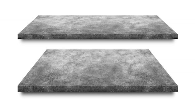 セメントの床、白で隔離 Premium写真