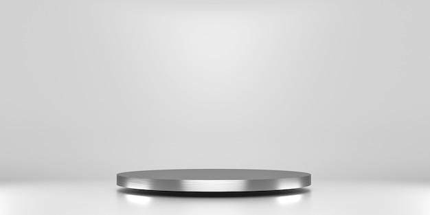 Серебряная платформа для демонстрации товара Premium Фотографии