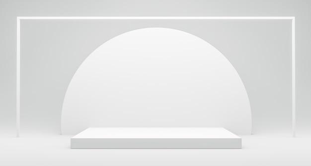 製品を表示するための白いプラットフォーム Premium写真