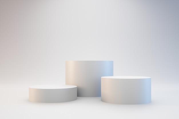 Современный белый подиум Premium Фотографии