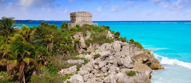 Руины города тулум майя в ривьера майя Premium Фотографии