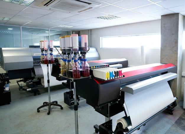 織物のための印刷産業の移動紙プリンター Premium写真