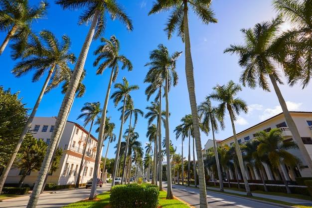 パームビーチロイヤルパームウェイフロリダ米国 Premium写真