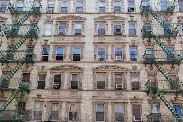 ニューヨークのマンハッタンのソーホー建築ファサード Premium写真