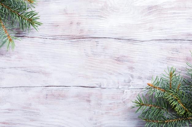 Рождественский фон с елкой Premium Фотографии