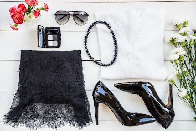 女性流行のファッションアクセサリー Premium写真