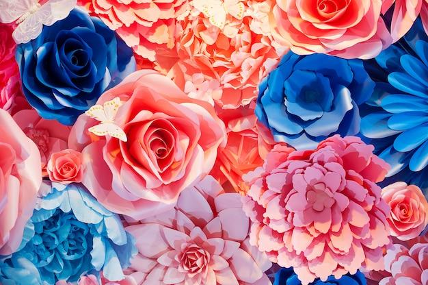 結婚式のシーンの美しい花の背景 Premium写真