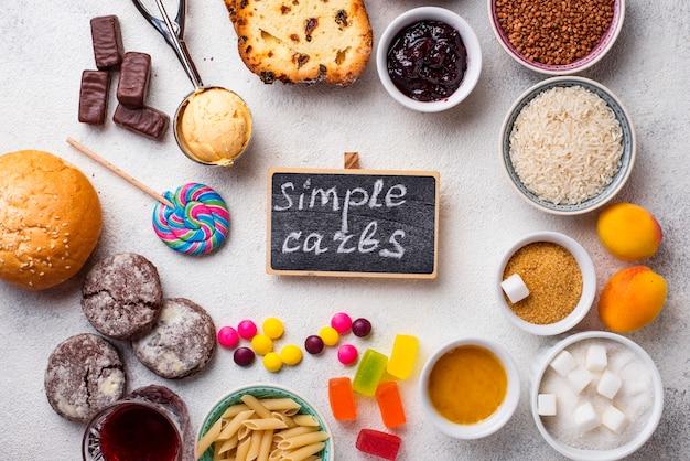 単純炭水化物食品の品揃え Premium写真