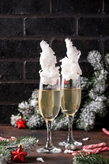 綿菓子入りシャンパングラス Premium写真