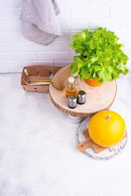 Идея организации пространства на кухне Premium Фотографии