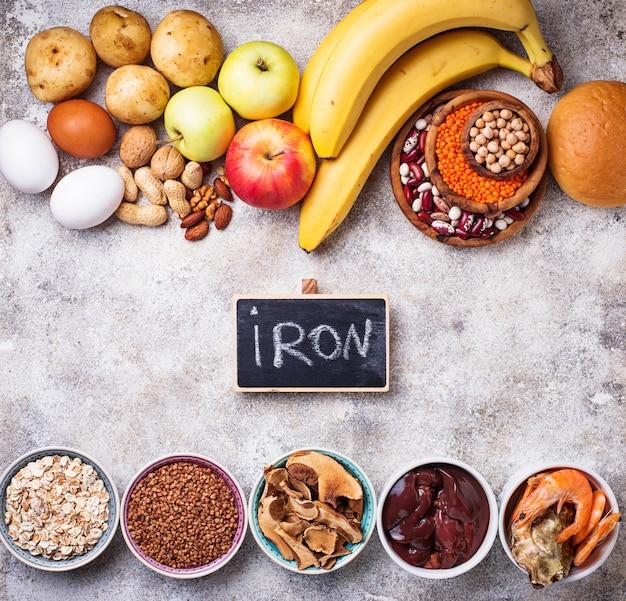 鉄の健康的な製品源 Premium写真