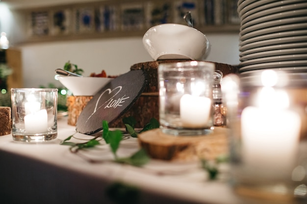 Детали обеденного стола в ресторане Бесплатные Фотографии