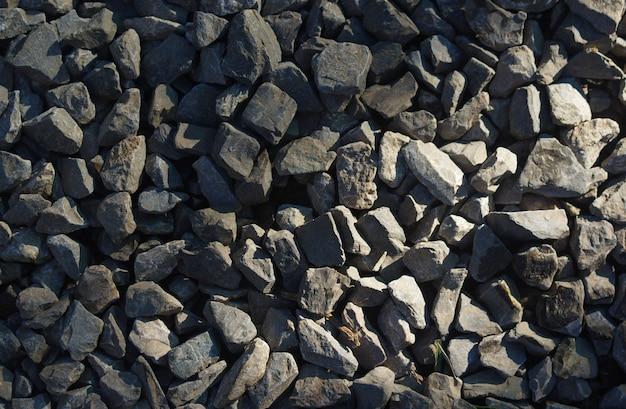 灰色の小石の背景 Premium写真