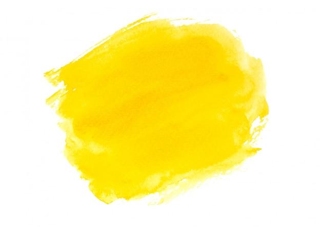 黄色の水彩絵の具の背景テクスチャデザイン Premium写真