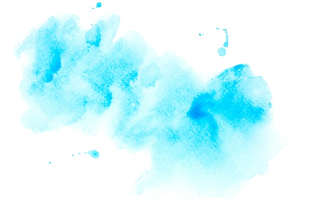 色合いのペンキの背景を持つ青い水彩画汚れ Premium写真