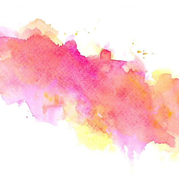 カラフルな色合いのペイントストローク背景とピンクの水彩画 Premium写真