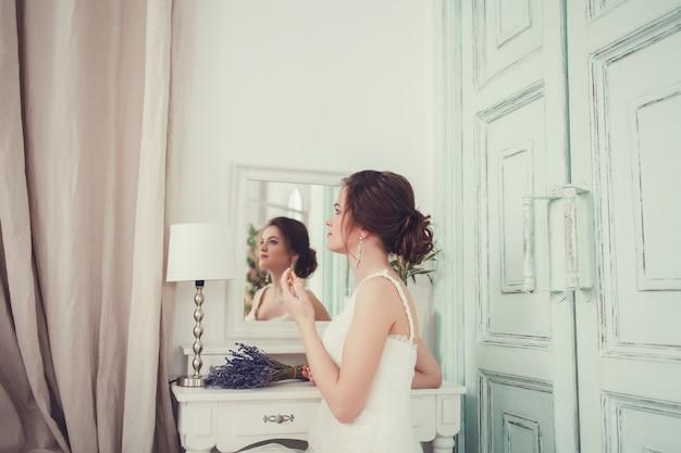 若い花嫁の肖像画 Premium写真