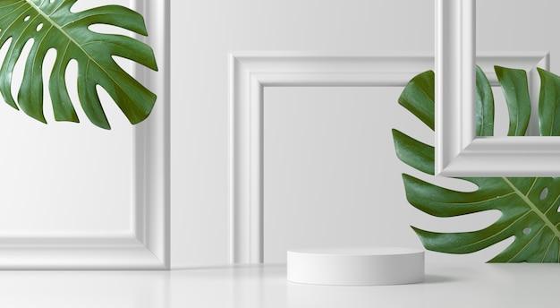 抽象的なシーン。製品のジオメトリ形状表彰台背景 Premium写真