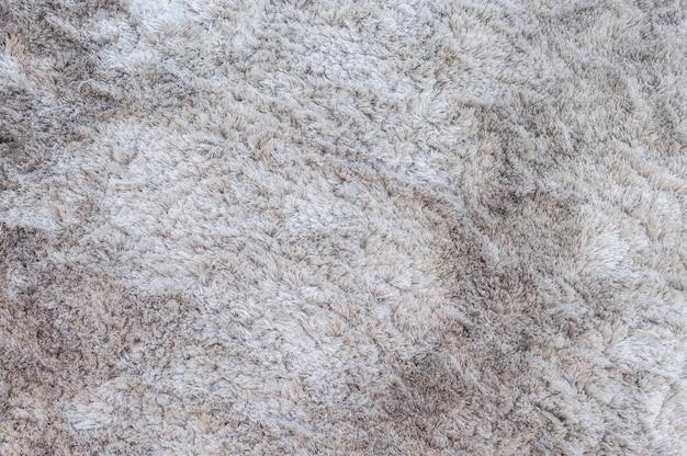 クローズアップ表面の灰色のカーペットのテクスチャ背景 Premium写真