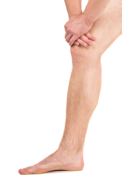 足の痛みを持っている人 Premium写真