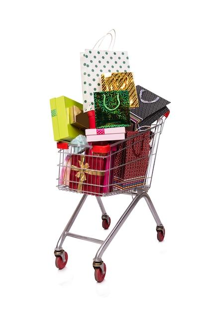 分離されたショッピングカート Premium写真